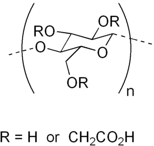 ساختار شیمیایی کربوکسی متیل سلولز